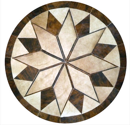 Austin Patchwork Cowhide Rug | Natural Brindle 150cm