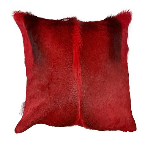 Springbok Hide Cushion | Red