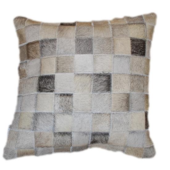 Cowhide Pillow | Natural Grey Tone Cowhide 45cm x 45cm