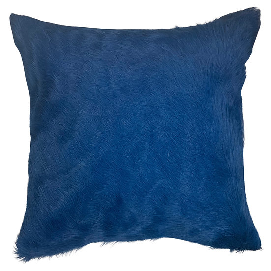 Cowhide Cushion | Soho | Electric Blue