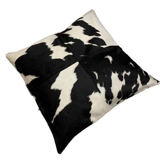 Cowhide Floor Cushion | Black & White | 80cm x 80cm