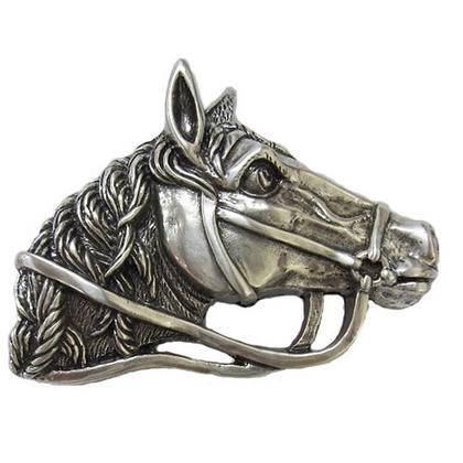 3D Belt Buckle   Horse Head Design