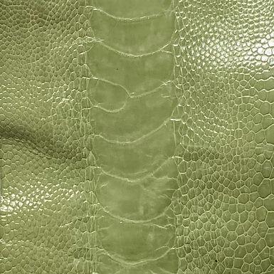 Ostrich Leg Leather | Linden Green | Glazed Finish