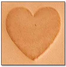Tandy Leather | Heart 2-D Mini Stamp | 8846-00