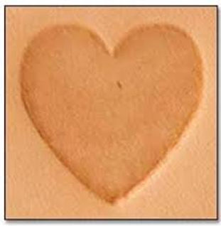 Tandy Leather   Heart 2-D Mini Stamp   8846-00