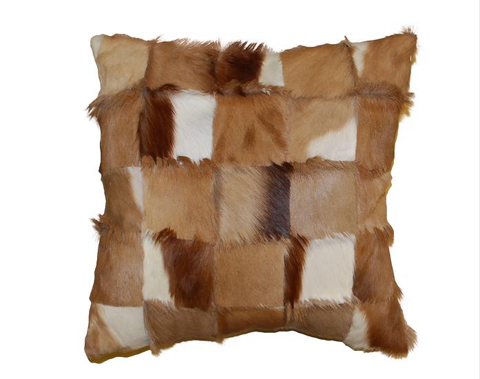 Patchwork Springbok Pillow Natural
