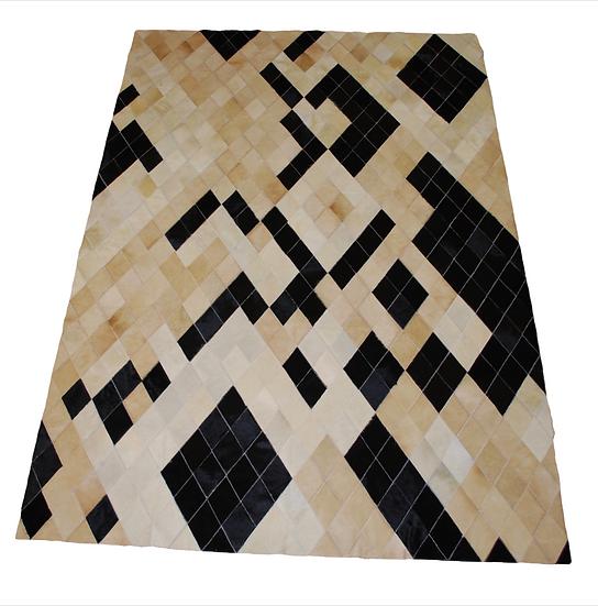 Panama Patchwork Cowhide Rug | Diamonds Design 160 x 220cm