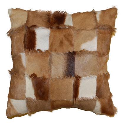Springbok Patchwork Cushion | Natural 45cm x 45cm