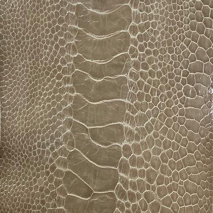 Ostrich Leg Leather | Upholstery Grey | Glazed Finish