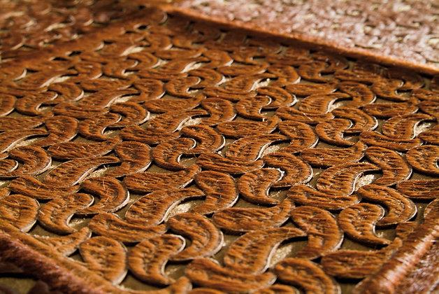 Patchwork Cowhide Rug | Laser Cut Paisley 150 x 200cm