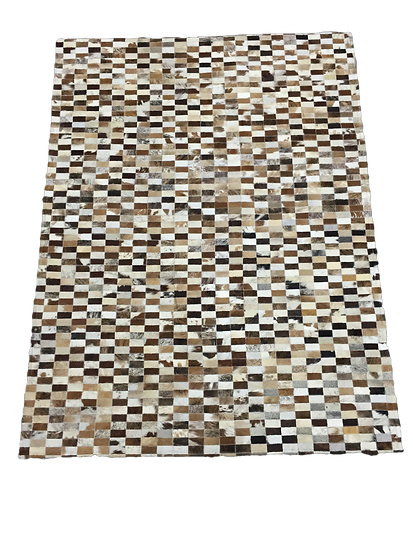 Patchwork Cowhide Rug | Mixed Natural Browns
