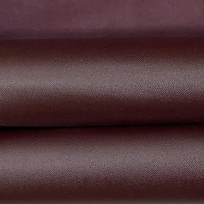 Caviar Leather | Aubergine | 1sqft Panel