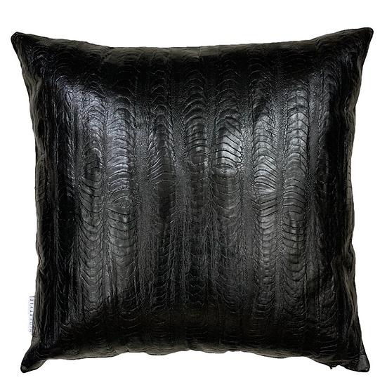 Emu Leg Leather Cushion | Black | 50cm x 50cm