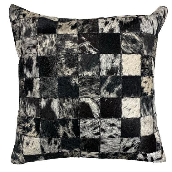 Cowhide Pillow | Black Speckle | 45cm x 45cm