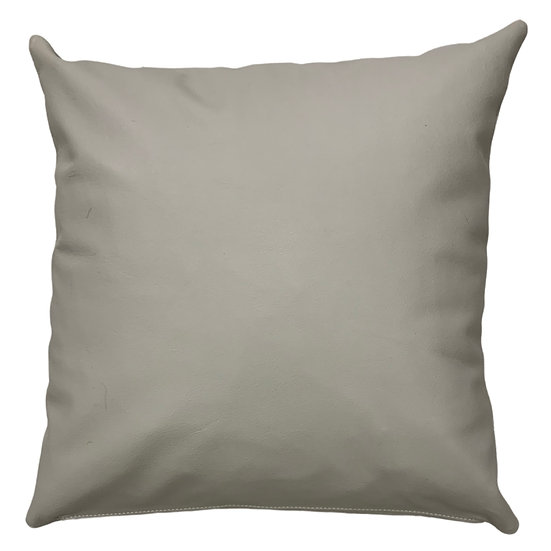 Leather Throw Pillow | Grey Leather  | 45cm x 45cm