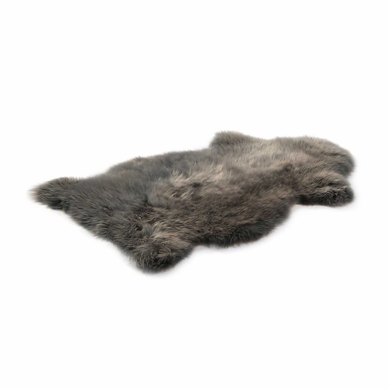 Dover Grey One Piece Longhair Sheepskin Rug