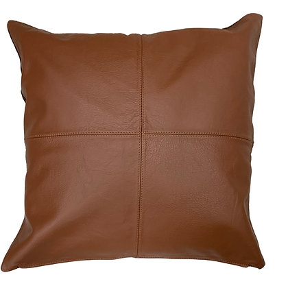 Leather Throw Pillow | Cognac | 45cm x 45cm