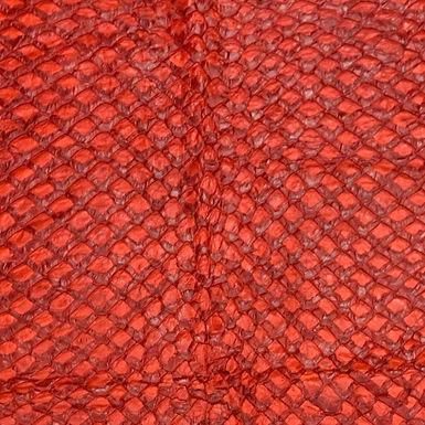 Arapaima Leather | Red Shiny | Large