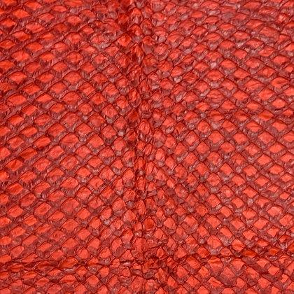 Arapaima Leather   Red Shiny   Large