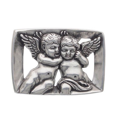 3D Belt Buckle | Angel Cherub Design