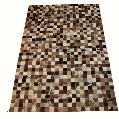 Patchwork Cowhide Rug | Natural Browns | 120 x 180cm