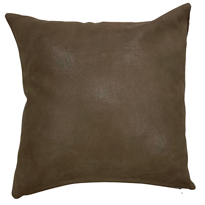 Leather Throw Pillow | Chocolate | 45cm x 45cm