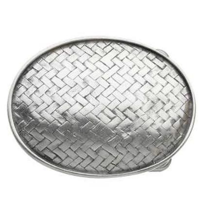 3D Belt Buckle | Basketweave Design