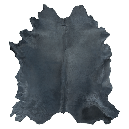 Italian Dyed Cowhide Rug | Graphite