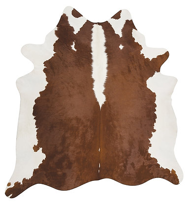 Hereford Brown and White Cowhide