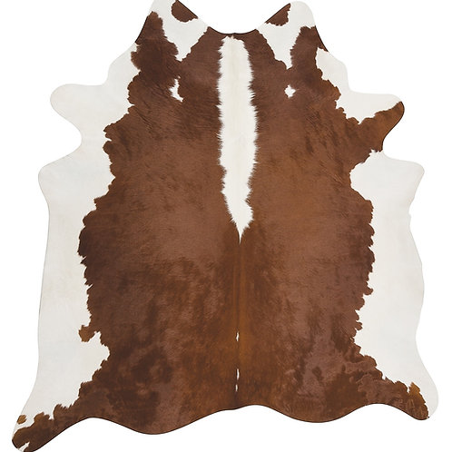 Hereford Brown and White Cowhide Rug