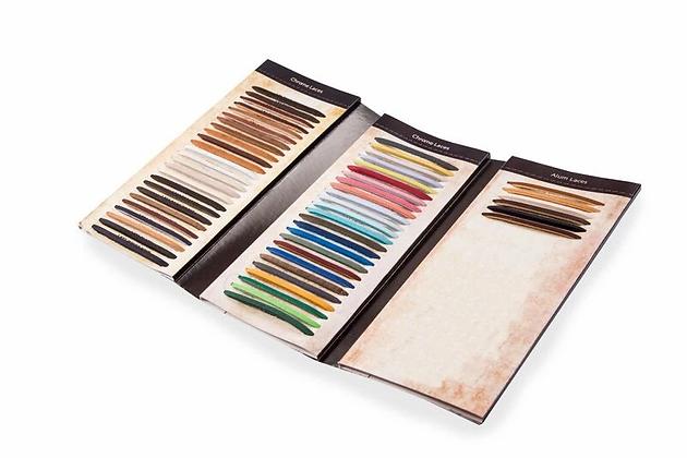 Chrome and Alum Leather Lace Colour Chart