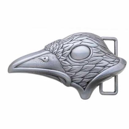 3D Belt Buckle   Raven Head Design