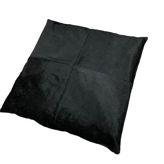 Cowhide Floor Cushion | Black  | 80cm x 80cm