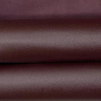 Caviar Grain Leather  | Aubergine | Side