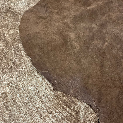 Cappuccino Reverse Suede Leather    1.2/1.4mm   Italy