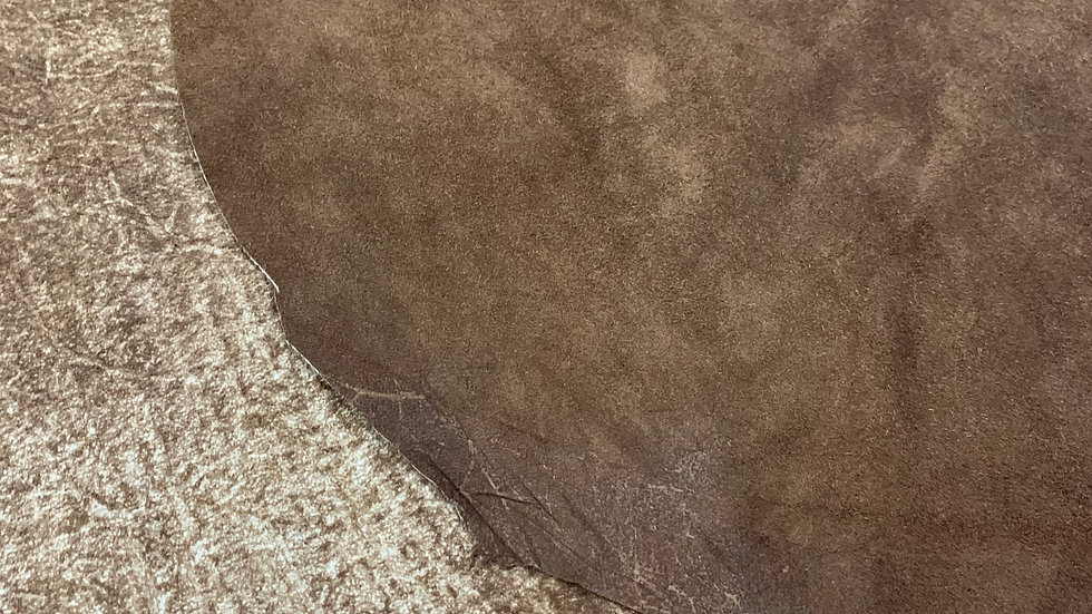 Cappuccino Reverse Suede Leather  | 1.2/1.4mm | Italy