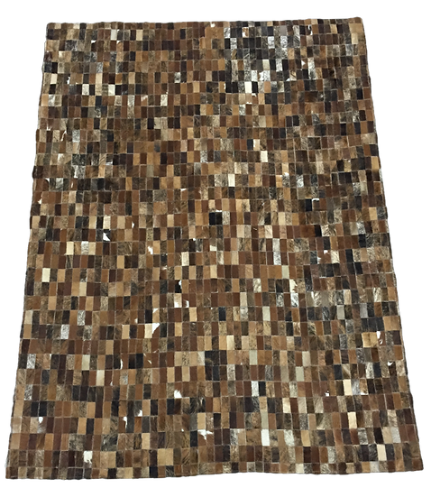 Patchwork Cowhide Rug |  Natural Brindles