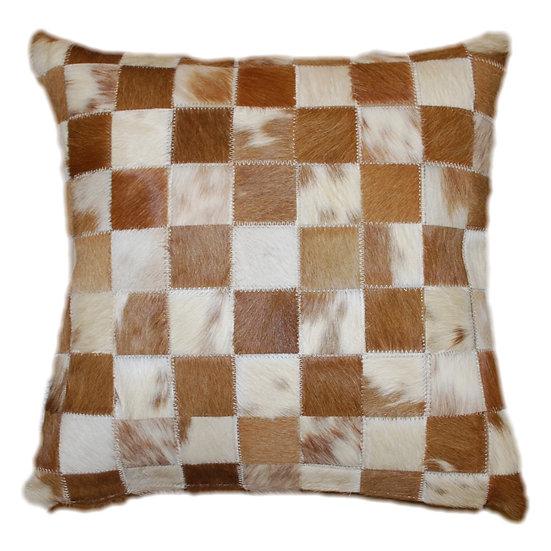 Cowhide Pillow | Natural  Tone Beige Cowhide 45cm x 45cm