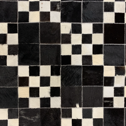 Patchwork Cowhide Rug | Black and White 118 x 158cm