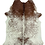Cowhide Rug Salt and Pepper Speckle in Brown and White