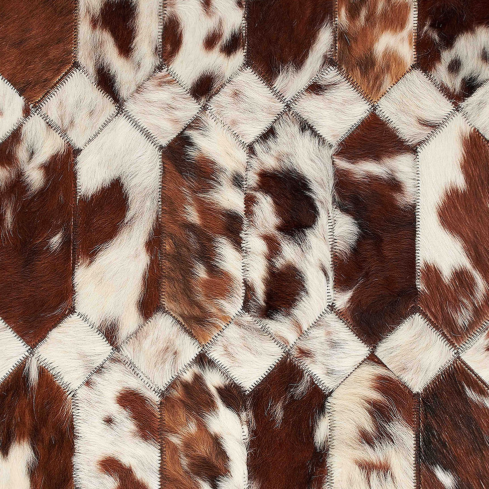 GIOIA design rug in natural cowhide