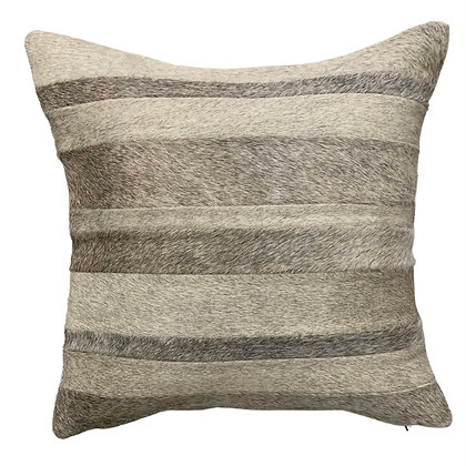 Cowhide Cushion | Natural Mixed Greys 45cm x 45cm