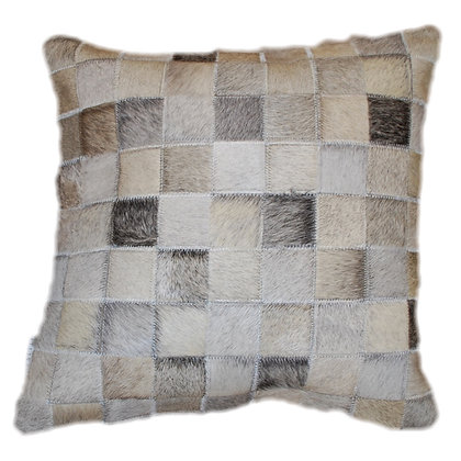 Cowhide Cushion | Natural Mixed Greys 45cm x 45cm