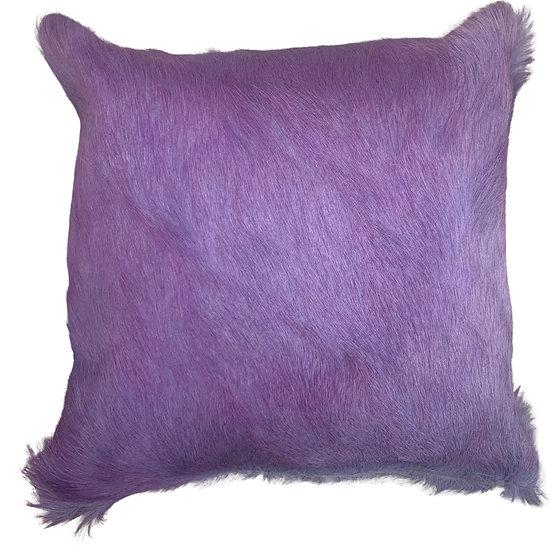 Cowhide Cushion   Soho    Lavender Two Tone