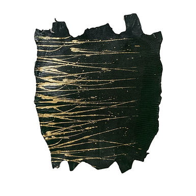 Lizard   Skateonice   Dark Green with Gold  Metallic
