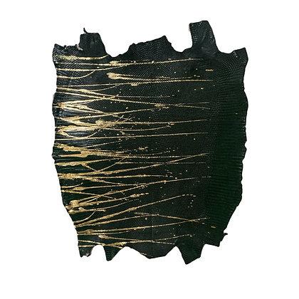 Lizard | Skateonice | Dark Green with Gold  Metallic