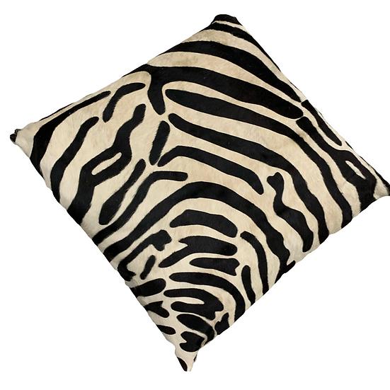 zebra printed cowhide floor cushion 80cm x 80cm