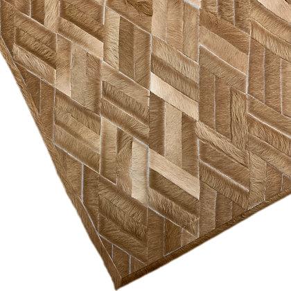 Cowhide Design Rug   Bamboo   155cm x 205cm