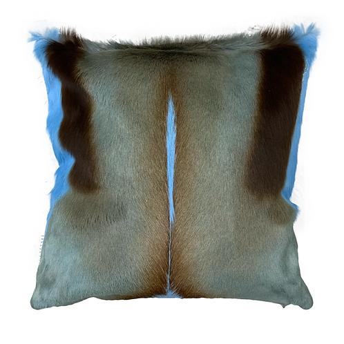 Springbok Hide Cushion | Baby Blue