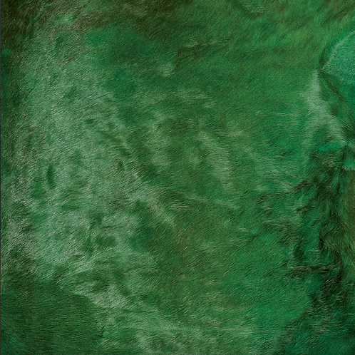 Italian Dyed Cowhide Rug   Contrast   Green / Red